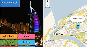 Dubai offline map guide hotels