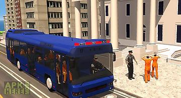 Police bus prisoner transport
