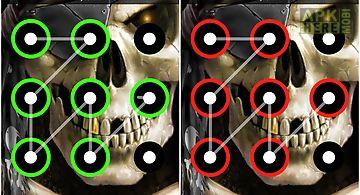 Skull pattern screen lock
