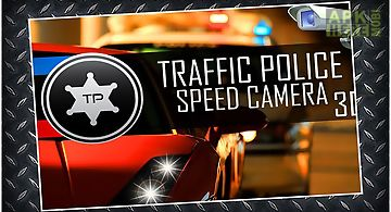 Traffic police speed camera 3d