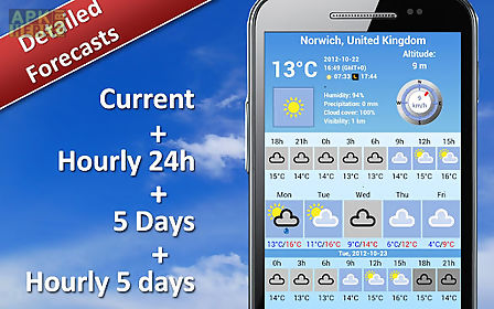 Weather 5 days for Android free download at Apk Here store