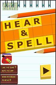 hear & spell -spell challenge