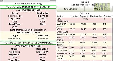 Indian train info app - disha