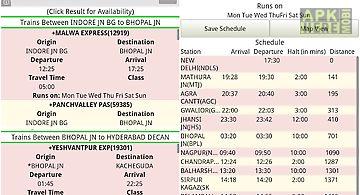 Indian train info app - disha