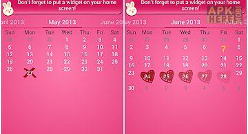 Bunnys period calendar/tracker