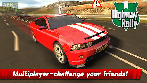 highway rally: fast car racing