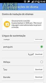 go sms pro portuguese language