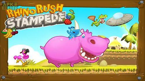 rhino rush: stampede