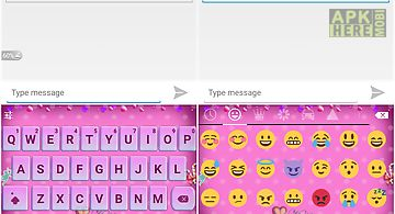 Emoji keyboard - lover pink