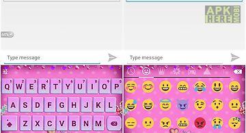 Emoji keyboard - lover pink
