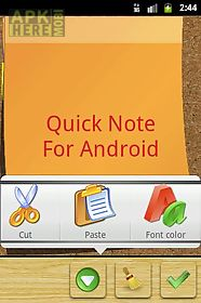quick note sticky note widget