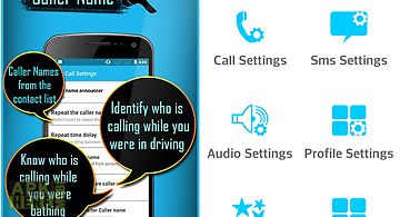 Smart caller name announcer