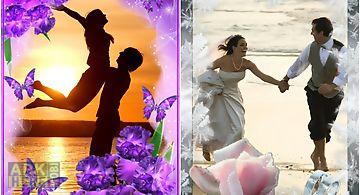 Flower love photo frames