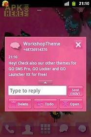 go sms theme pink cute sweet