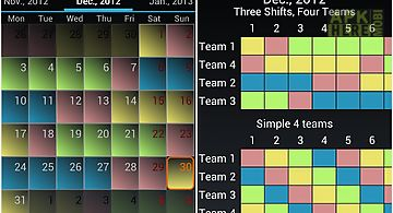 Shift schedule + alarm clock