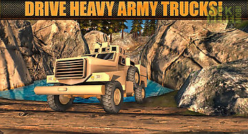 Army truck offroad driver 3d