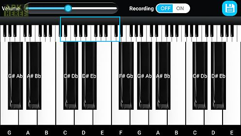 Piano keyboard for Android free download at Apk Here store - Apktidy com