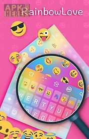 rainbow love emoji keyboard