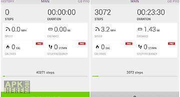 Runtastic pedometer step count