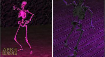 Skeleton dance party 3d