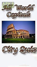 all world capitals: city quiz