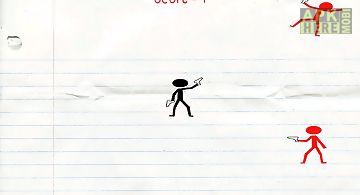 Stickmen war in the notebook