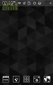 black and white atom theme