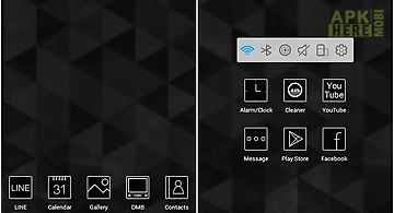 Black and white atom theme
