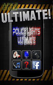 police lights & siren