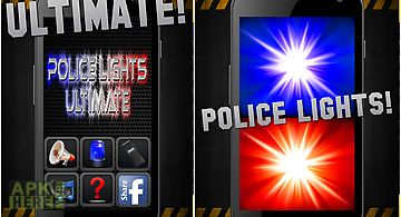 Police lights & siren