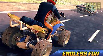 Quad bike bandit vs cop racing