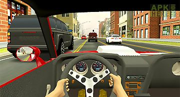 Racing in city - car driving
