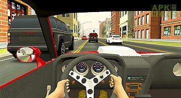 Racing in city - car driving