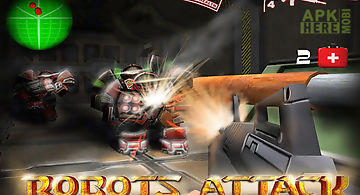 Robots attack shooter 3d free
