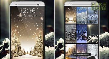 Snowfall screen lock