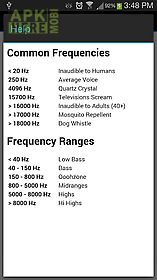 favorite frequencies