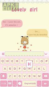 lovely girl for emoji keyboard