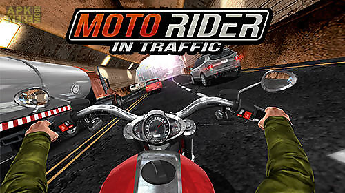 moto rider in traffic