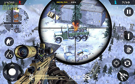 winter mountain sniper: modern shooter combat