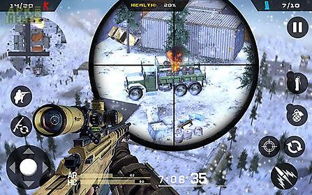 winter mountain sniper: modern shooter combat