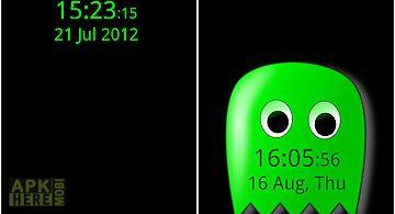 Aa screen saver clock