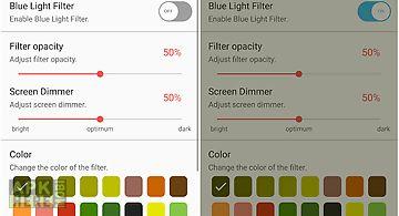 Blue light screen filter