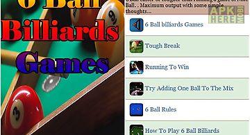 6 ball billiards games