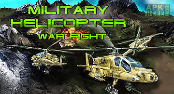 Military helicopter: war fight