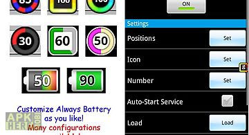 Always battery (icon changer)