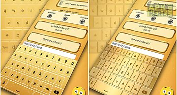 Gold emoji keyboard changer