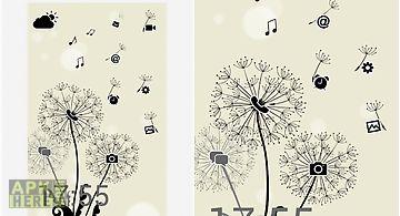 Launcher 8 theme:dandelions