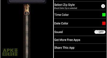 Zip screen lock - security