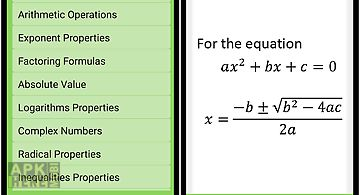Maths algebra formula