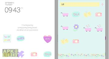 Pastel love tree dodol theme